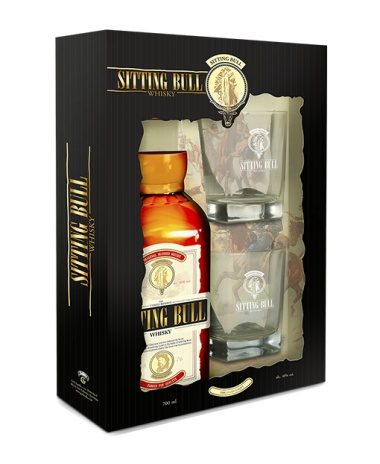 SITTING BULL Whisky 40% 0.7L v kartóniku +2 poháriky