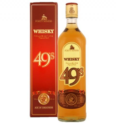 Whisky FORTY NINERS 40% 0.7L v kart.