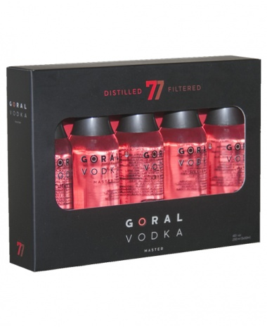 Goral Vodka MASTER dar. bal. 40% 5x0.05L