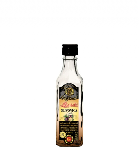 Spišská Slivovica Original KOSHER 52% 0.05L